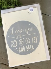Love you to the Moon - Grey